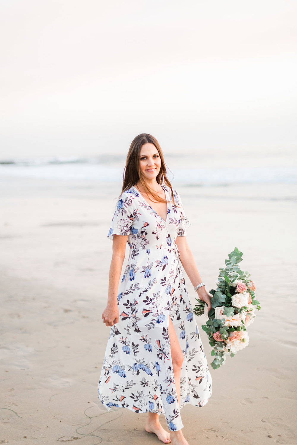 Down to earth, classic, beach engagement photos | Newport Beach, CA | Compass Floral | Wedding Florist in San Diego and Southern California | Cavin Elizabeth Photography