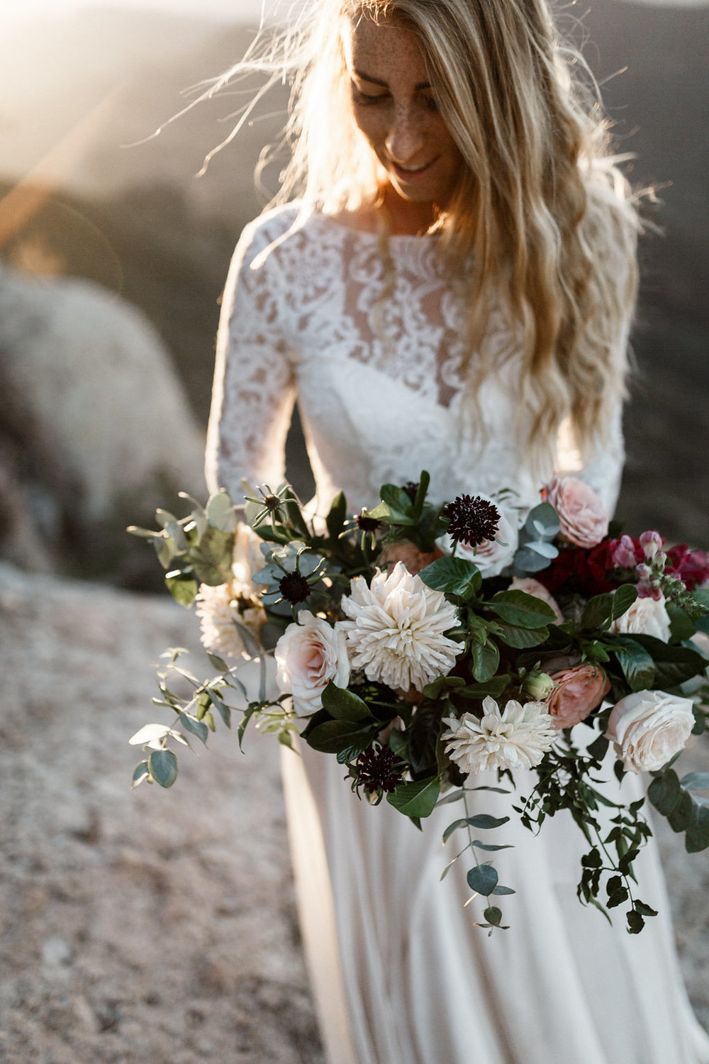 organic & romantic dahlia, cappuccino rose bridal bouquet | Malibu Weddings | Compass Floral Design | Wedding Florist in San Diego and Southern California | Devin Jenkins Photography  #elopement  #elopementinspiration   #wedding   #weddinginspiration   #bohowedding   #bohemianwedding   #weddingceremony  #outdoorceremony   #sandiegoweddingflorist   #ojaiweddingflorist  #santabarbaraweddingflorist   #romanticweddingflowers   #bridalstyle   #weddingfashion