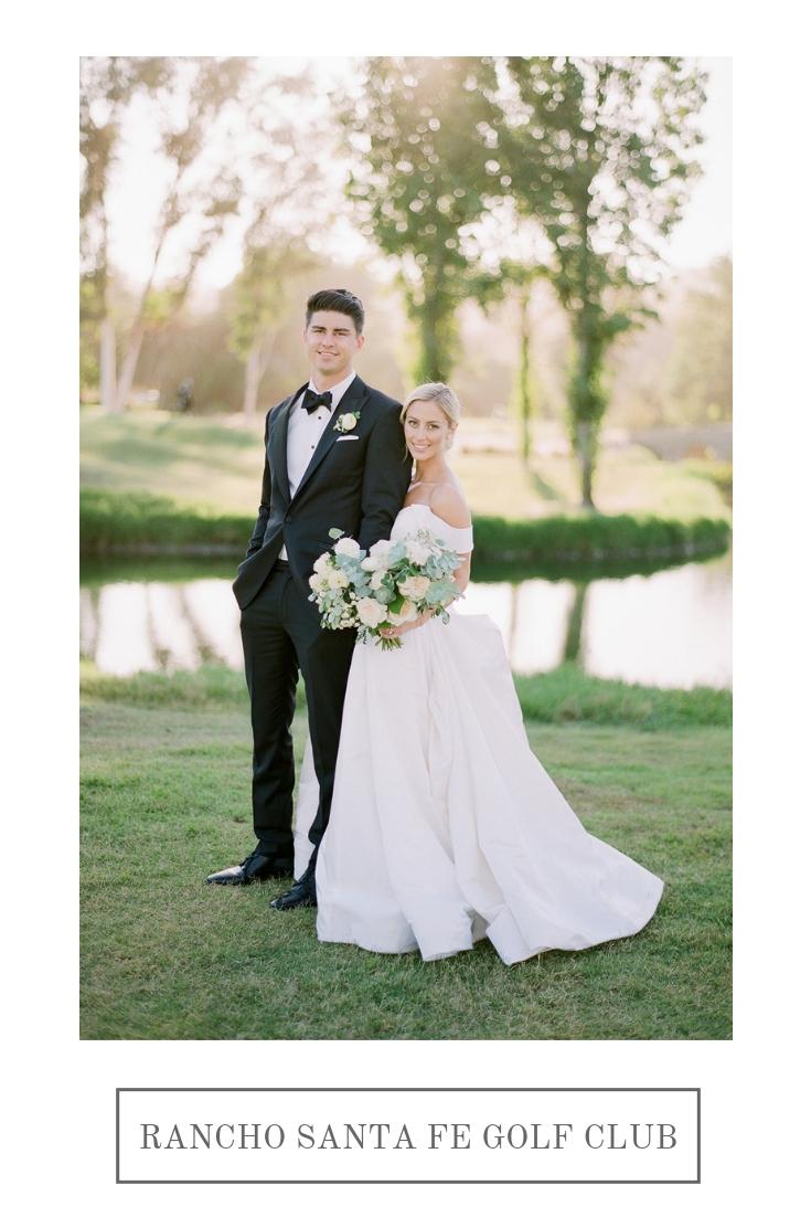 Black tie, romantic, outdoor wedding | Rancho Santa Fe Golf Club | Compass Floral | Wedding Florist in San Diego and Southern California | Rachael McCall Photography