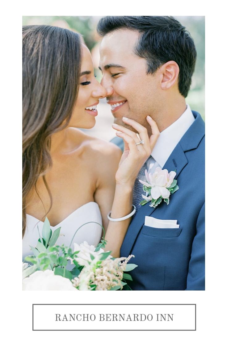 Green and white, romantic, garland wedding| Rancho Bernardo Inn | Compass Floral | Wedding Florist in San Diego and Southern California | Dear Lovers Photography