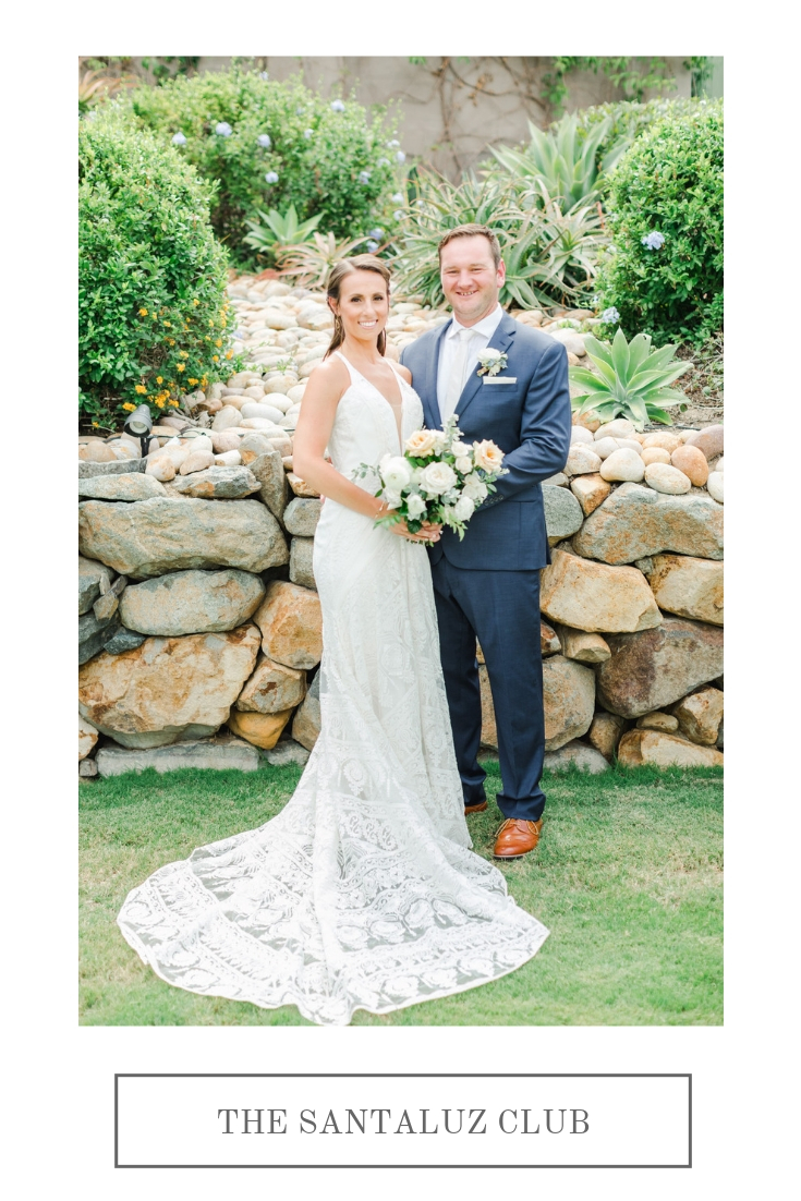 Herb and plant wedding with lush greenery and neutral flowers | The Santaluz Club | Compass Floral | Wedding Florist in San Diego and Southern California | Cavin Elizabeth Photography