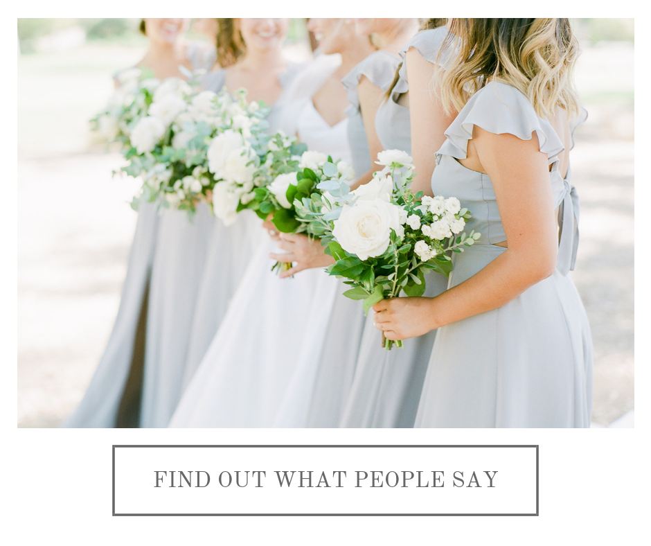 Gray bridesmaid dresses with white bouquets | Rancho Santa Fe Golf Club | Compass Floral | Wedding Florist in San Diego and Southern California | Rachael McCall Photography