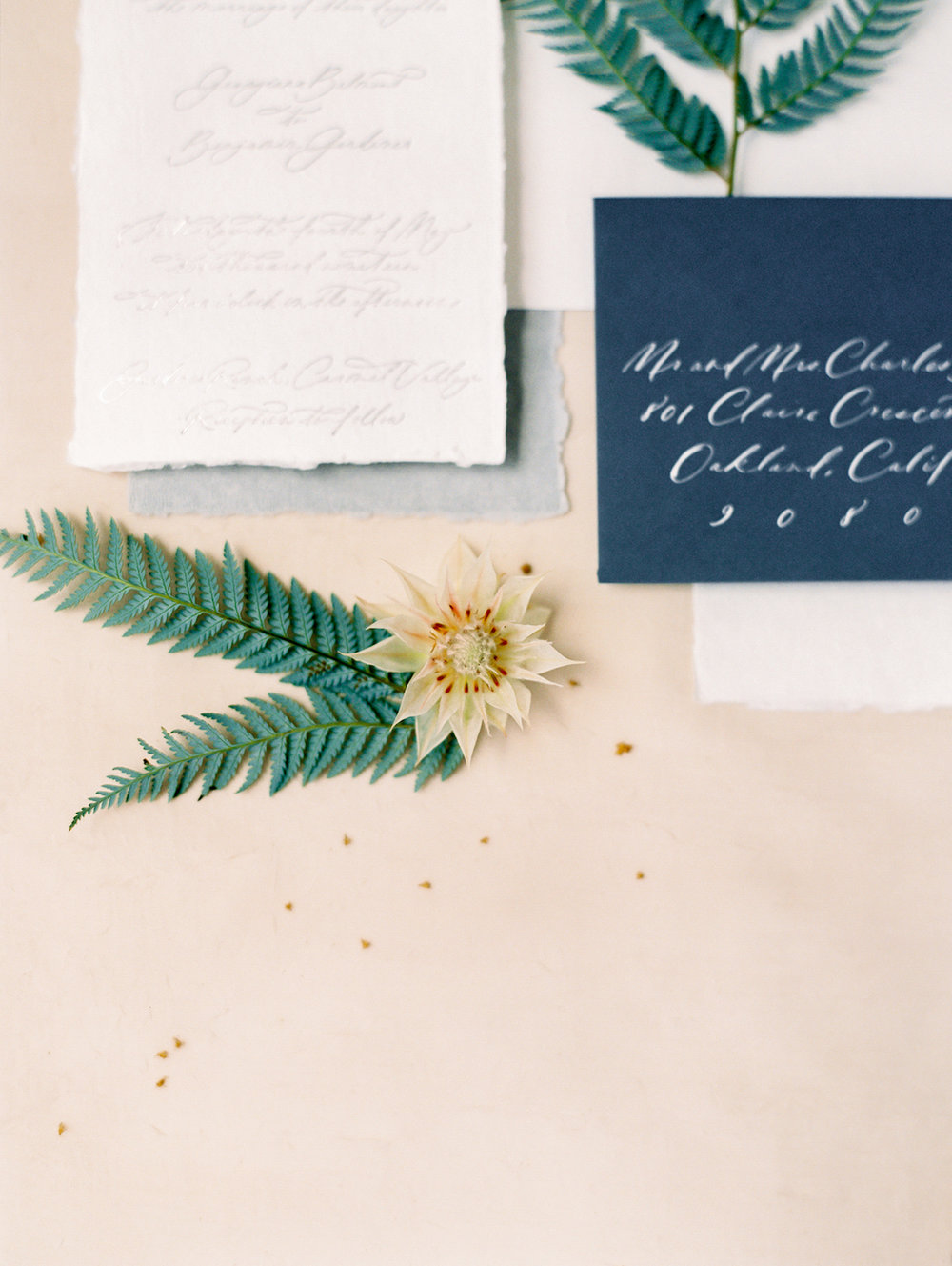Classic wedding invitation suite | Studio 710 | Compass Floral | Wedding Florist in San Diego and Southern California | Dear Lovers Photography