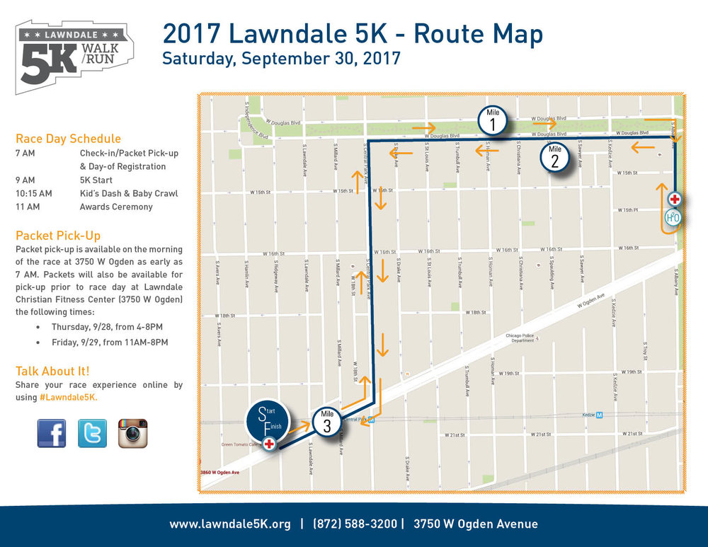 2016 Lawndale 5K - Route Map (PDF)