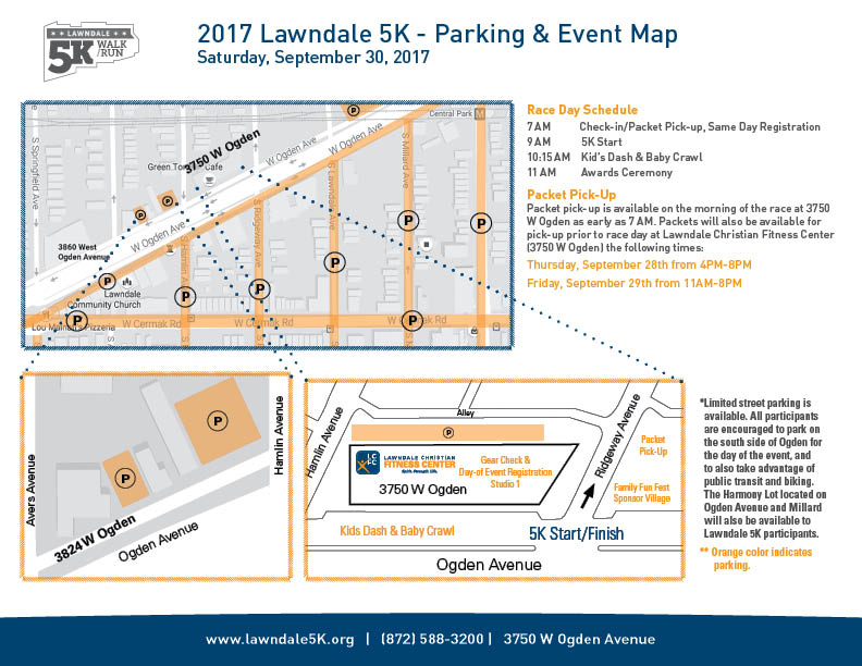 2016 Lawndale 5K - Parking & Event Map (PDF)