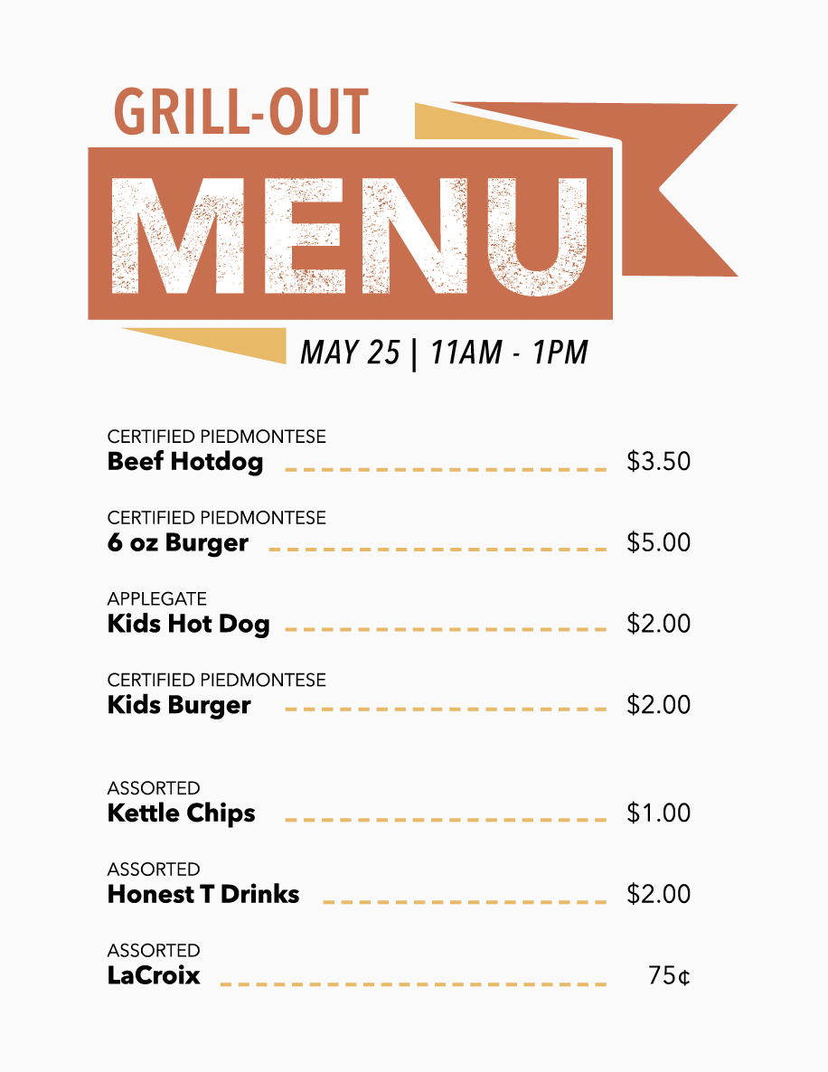 GRILL-OUT MENU