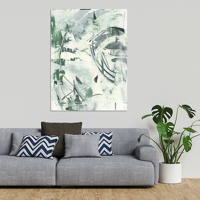 available now!! Link in profile. Both original art and large format prints. Keep it green all winter long!! #abstractartist #abstractpainting #abstract_art #abstractexpressionism