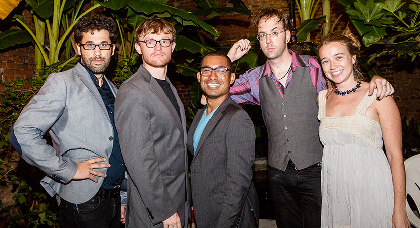 Co-artistic director Chris Kaminstein, comedians James Hamilton and C.J. Hunt, ensemble member Ian Hoch, and co-artistic director Shannon Flaherty at 2015 fundraiser. Goat in the Road's 2015 fundraiser was at the New Orleans Pharmacy Museum on Thursday, September 10th. Absinthe was drunk, Chekhov was heralded, and ennui was celebrated! Check out the pics here. Thanks to all who came out and made it a success, especially the artists who donated works for the raffle, businesses who contributed to the auction, Acrodisiac who performed, and Joshua Brasted, who took these amazing photos!
