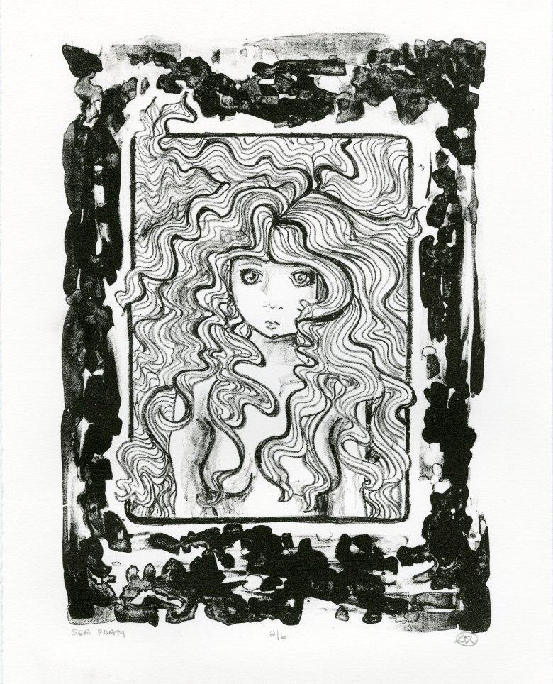 "8.5"" x 11"" Stone Lithograph (2012)"