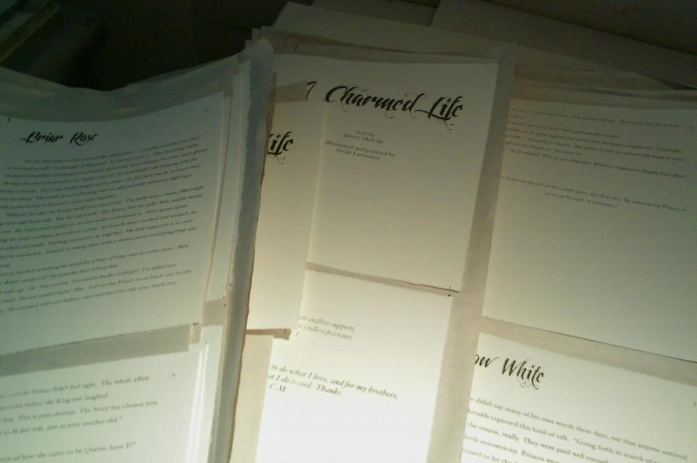 Pages are all printed and getting ready for binding.
