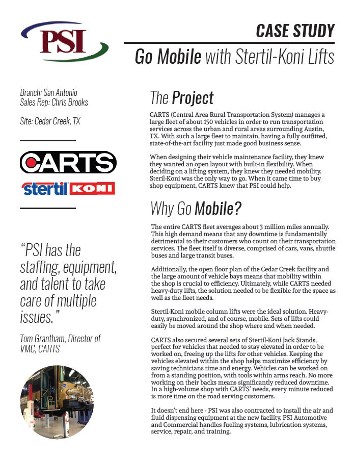 Case Study | CARTS & Stertil Koni Lifts