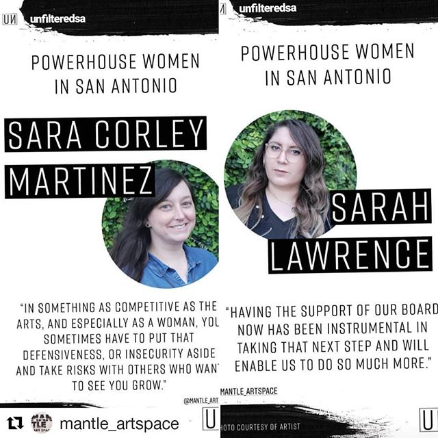 😭😭😭 #Repost @mantle_artspace (@get_repost) ・・・ We are so incredibly touched and honored to be in the company of such amazing women here in San Antonio. Thank you so much @unfilteredsa for the recognition! ♡♡♡ #powerhousewomen #sanantonio #satx