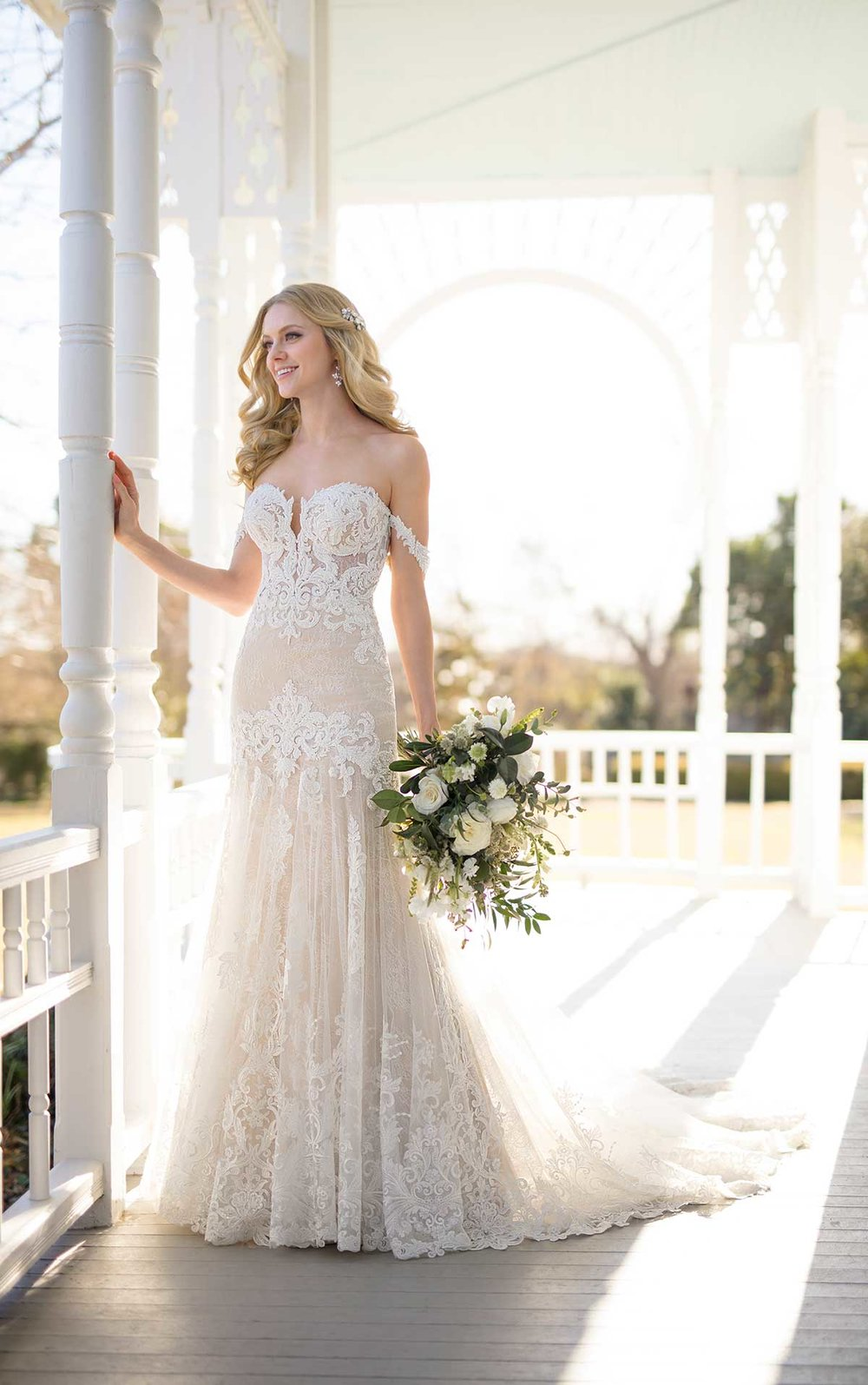 Martina Liana wedding gowns can be completely customized according to your wishes, and they are available at Bon Bon Belle.