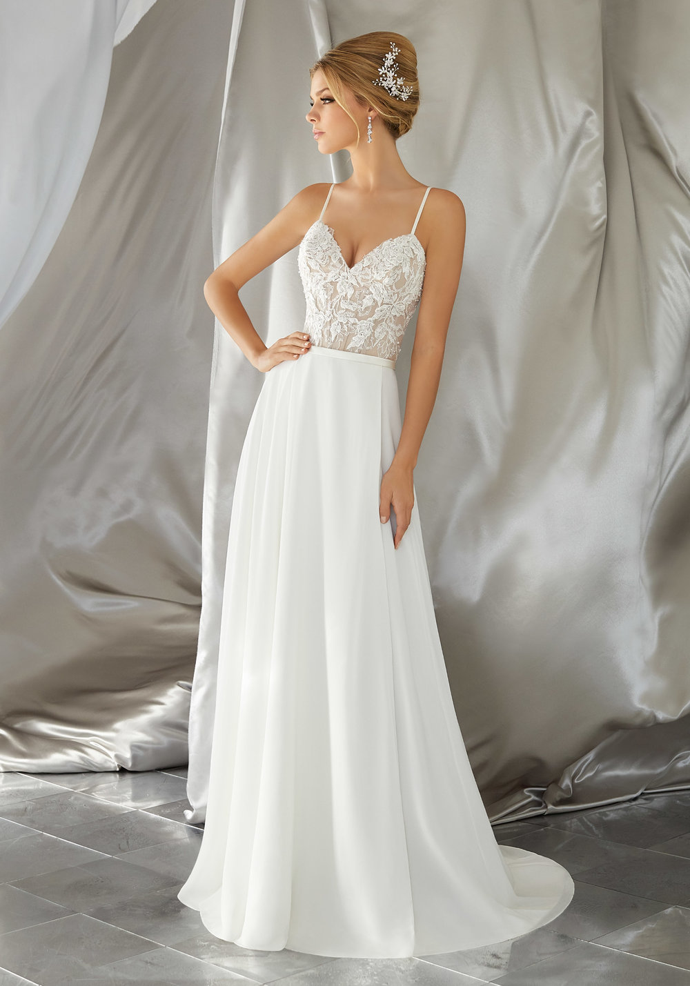 Relaxed wedding gown collections available at Bon Bon Belle.