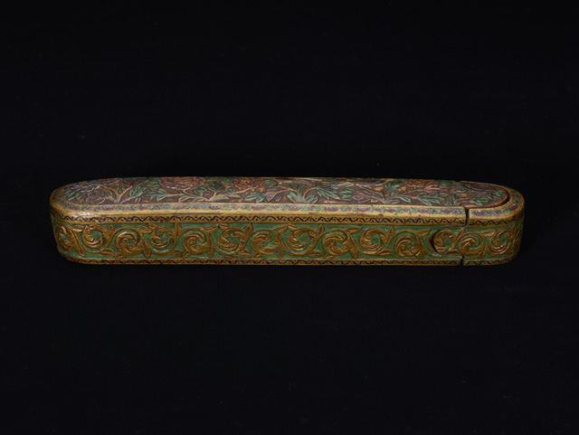 Pen case Probably Iran, 19th century CE (13th century AH) Painted wood Birmingham Museums Trust (1962S01667.00126) ©Birmingham Museums Trust