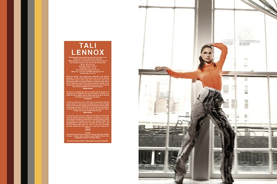 "Katrin Schnabl featured in Kurv Magazine 029 ""Tali Lennox"""