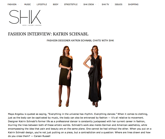 FASHION DESIGNER KATRIN SCHNABL CHATS WITH SHK
