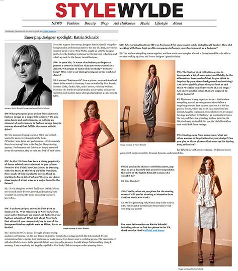 Emerging designer spotlight: Katrin Schnabl on www.StyleWylde.com