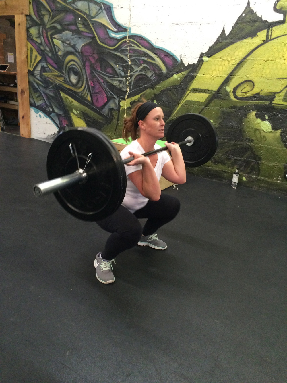 Morgan killing squat cleans the other day. She's in for the Whole Life Challenge too, so look out!