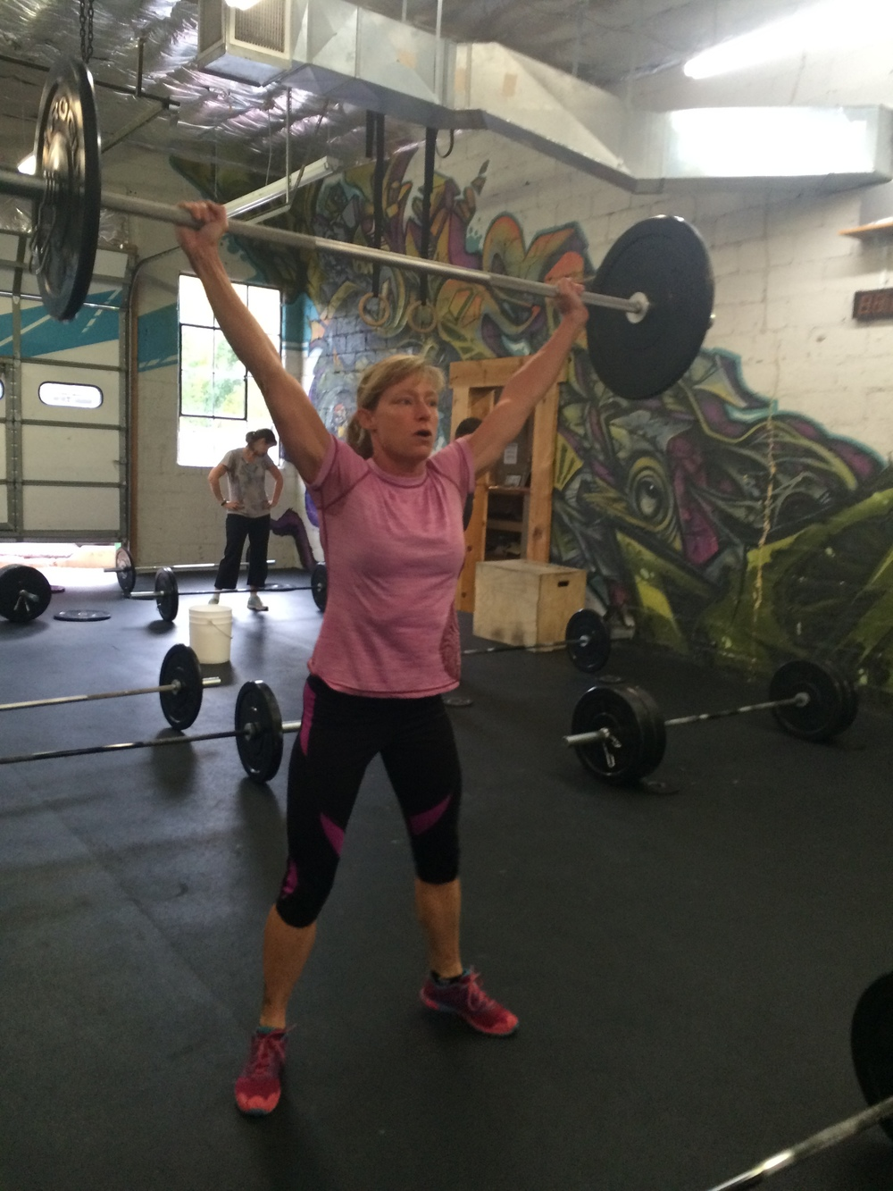 100 snatches with impeccable form were no problem for diane. Good scaling makes great workouts possible.