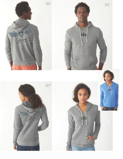 Top: Unisex hoodie / bottom: women's hoodie.Comes in BLUE or GREY