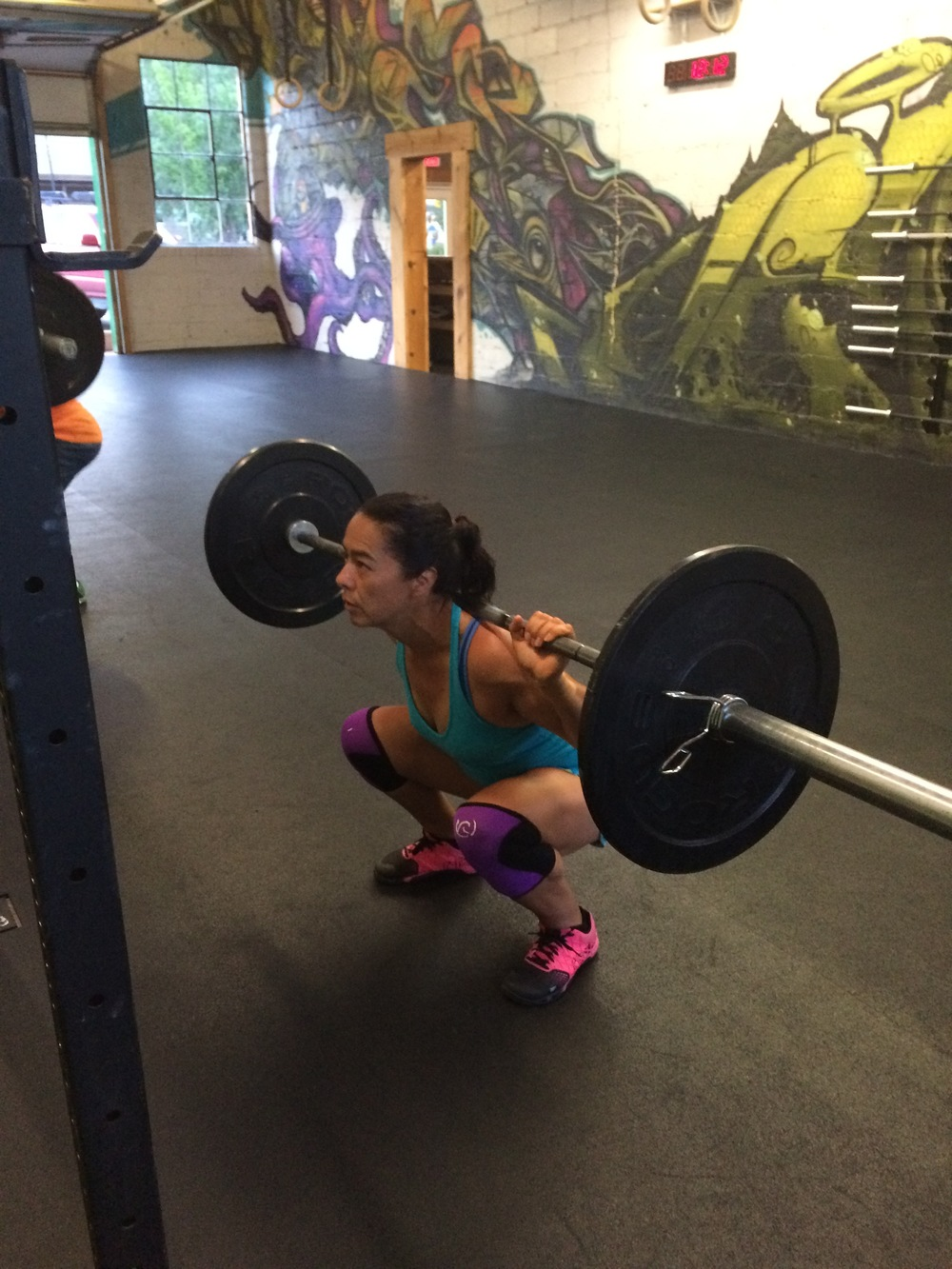 Back squats only count if the crease of your hip is below the top of your knee. I think julianna has that nailed.