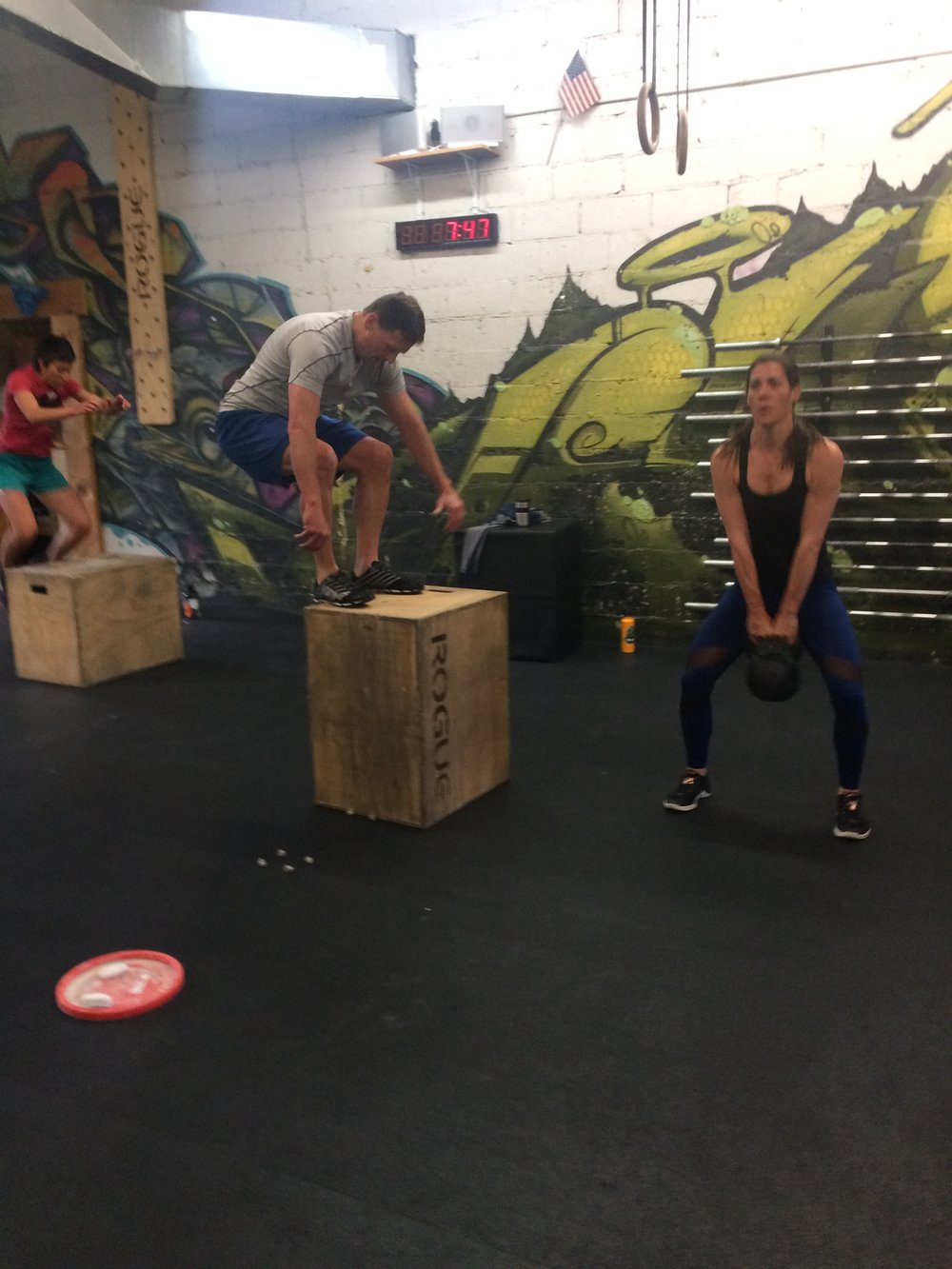 Heavy kettlebell swings and tall box jumps were the order of the day last week.