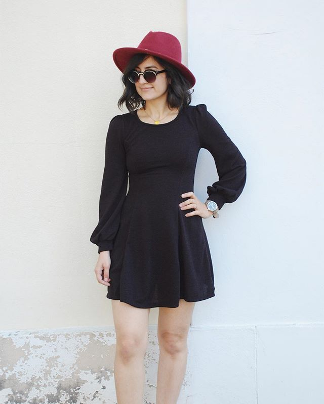 This little black dress is so soft! I love the bubble sleeves. And swing by to take advantage of our 20% off sale- all holiday goodies are 20% off and all sale items are an additional 20% off the marked down price! 🎉🎉🎉🦃🦃🦃 #thanksgivingoutfit