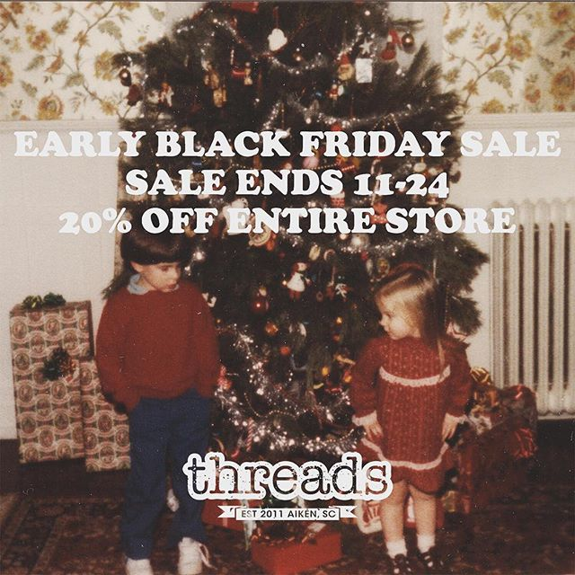 That's right, GET EXCITED! Black Friday sale starts today and ends Saturday. 20% OFF THE ENTIRE STORE! See you soon 😘