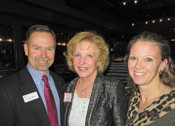 Assessor Corbin Sakdol, Commissioner Nancy Doty and Kelly Lear-Kaul, who is running for Arapahoe County coroner. Photos courtesy of Nancy Sharpe