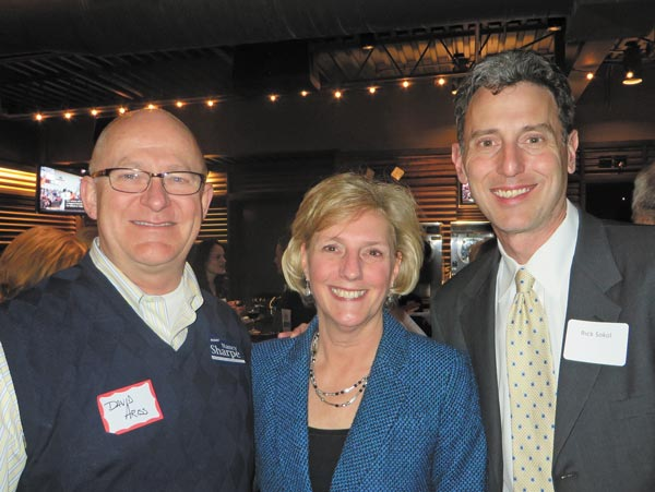David Ariss, Arapahoe County Commissioner Nancy Sharpe and Rich Sokol