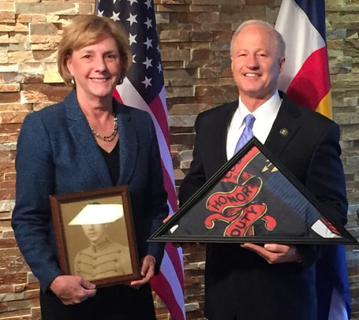 Arapahoe County Commissioner Nancy Sharpe and Rep. Mike Coffman