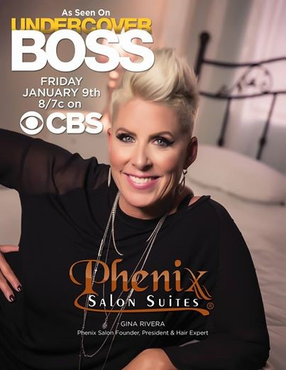 Click the image above to watch the Undercover Boss episode featuring Gina Rivera, Phenix Salon Suites CEO & Hair Expert.