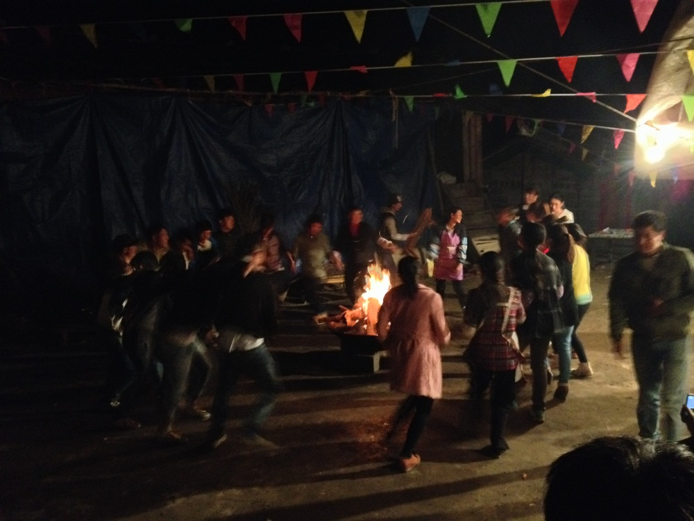 Naxi dance bonfire