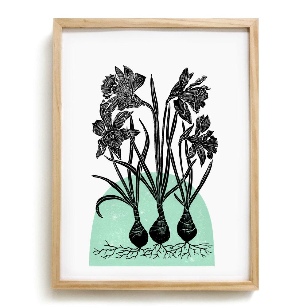 Daffodil - Mint - Framed.jpg