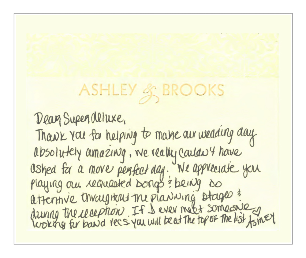 From Ashley + Brooks