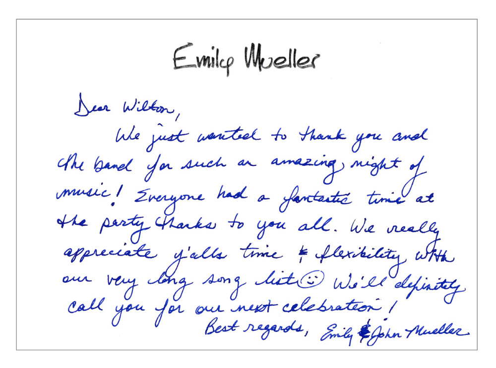 From Emily + John