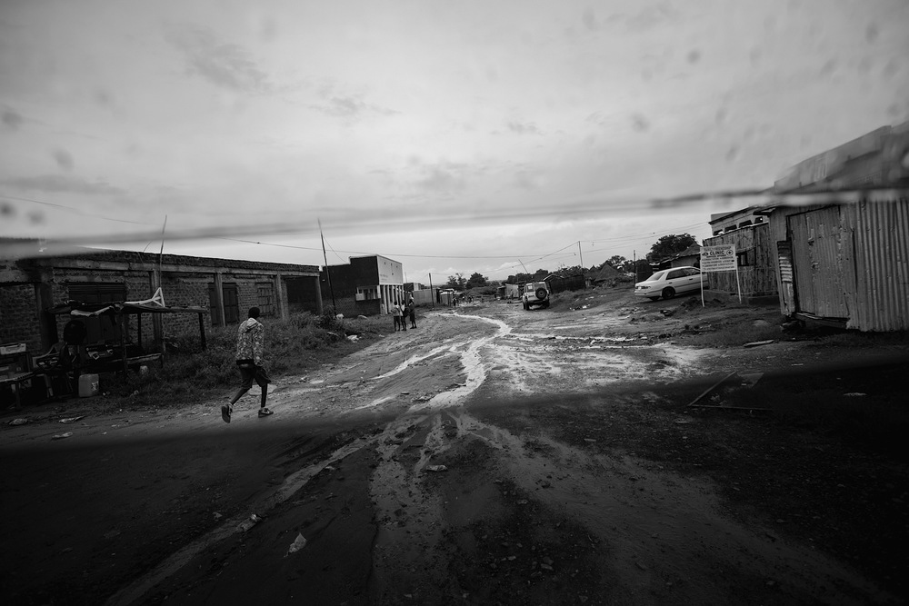 The streets of Nimule are littered with trash and sewage.  South Sudan has no infrastructure for sanitation, allowing for rampant disease.