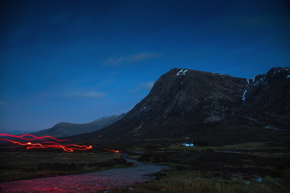 Buachaille Etive Mòr at night