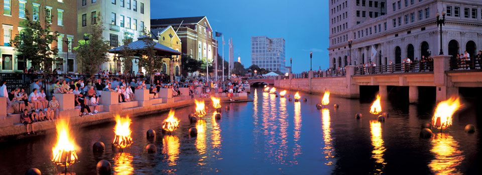 WaterFire has captured the imagination of over ten million visitors, bringing life to downtown, and revitalizing Rhode Island's capital city. |  Photo:  firewater.org