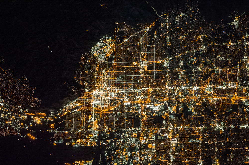 Salt Lake City at night. The light pollution, seen in the photo, blocks nighttime star-gazing. |  Photo: NASA