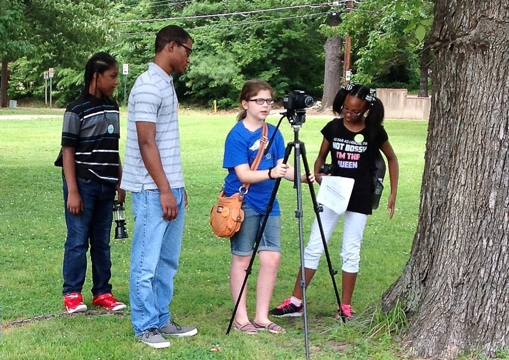 Students create their own short films during the Arts & Science Center for Southeast Arkansas' filmmaking camp in 2017. The 2018 filmmaking camp for ages 7-17 will be held July 16-20.