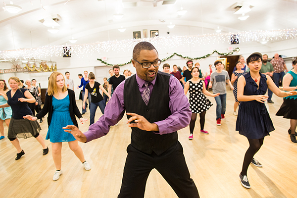 "Special guest instructor Nick Davis will lead the ""Swing, Art and All That Jazz"" camp. Interested students must apply to this camp. If selected, this camp is provided at no cost to the student."