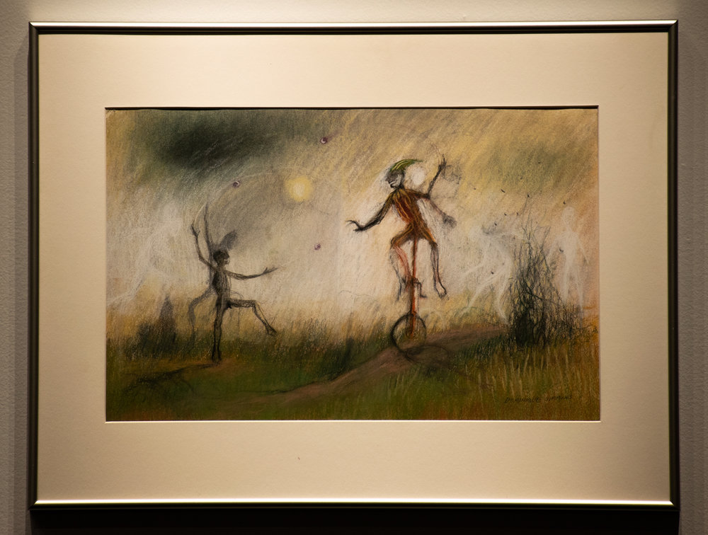 "Dominique Simmons, ""Two Fools,"" 1990. Oil pastel."
