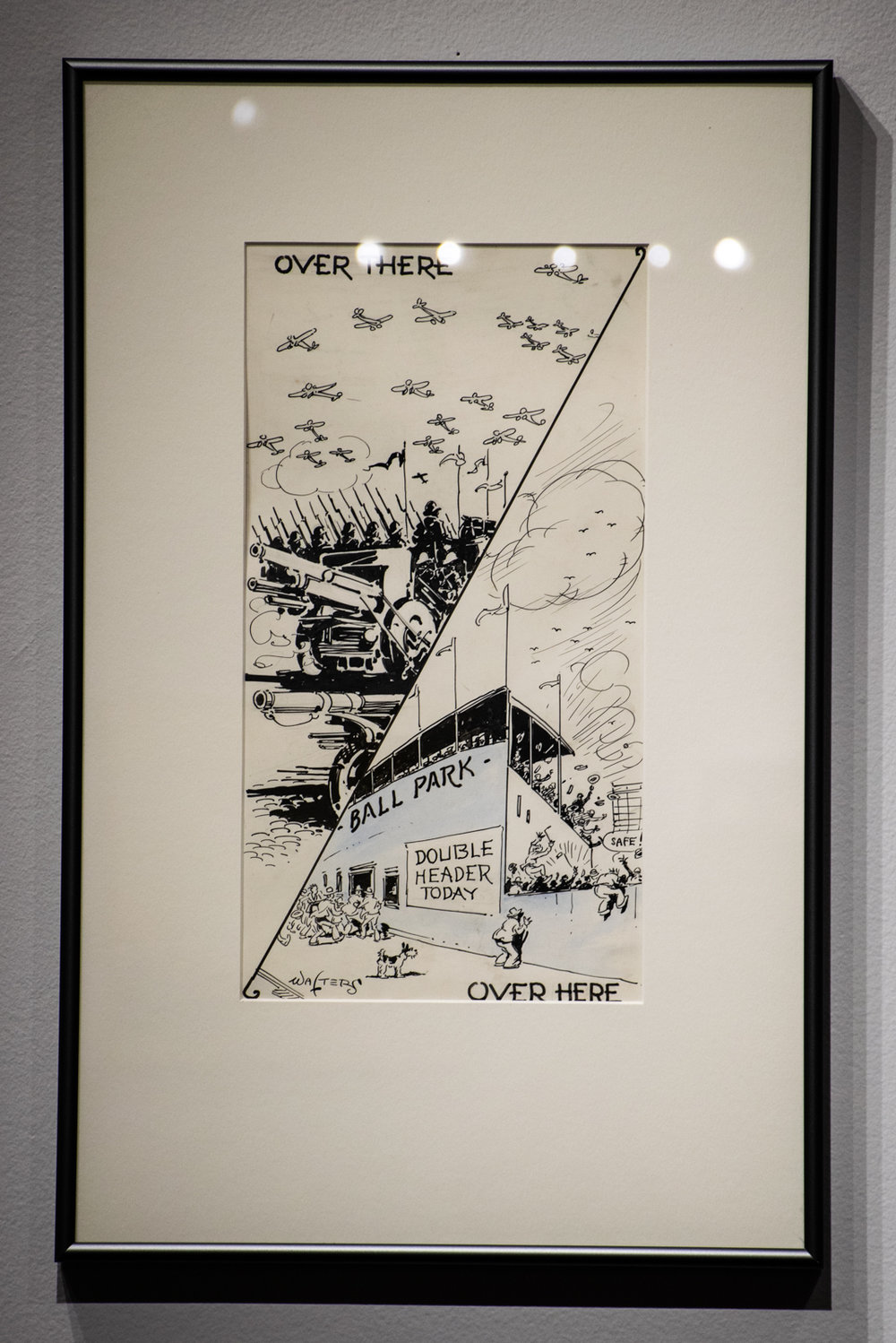 "Ray Walters, ""Over There,"" 1939. Ink on paper."