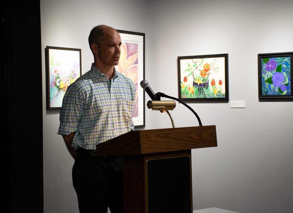 Juror John Kushmaul of Little Rock spoke at the PBAL reception and announced the winners.