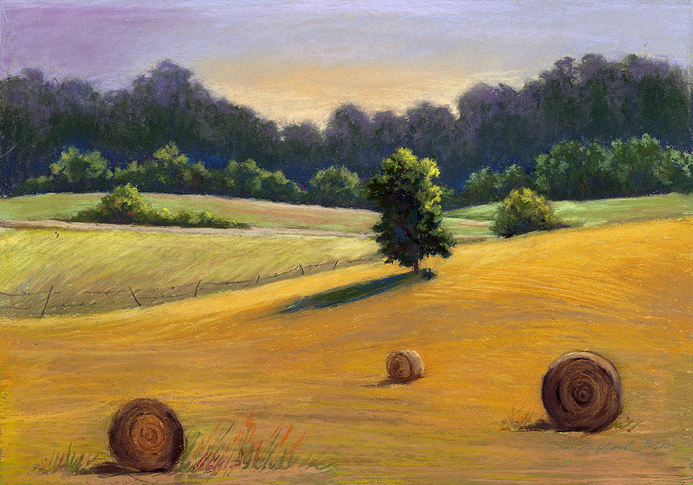 Mary Ann Stafford   Farm Land   Pastel