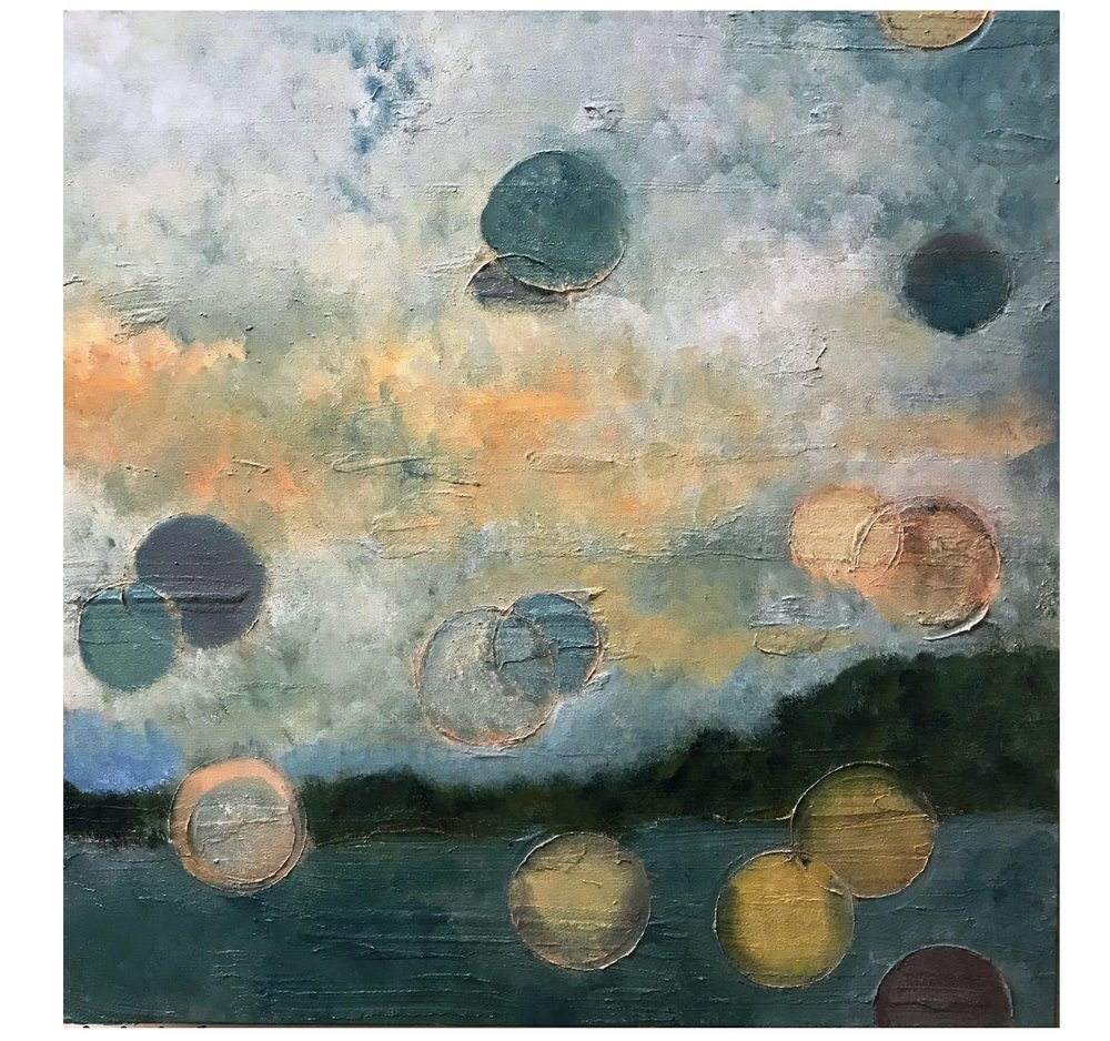 Dee Schulten   Air Balls   Oil on Canvas