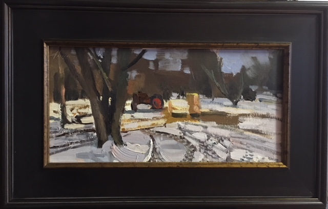Jason Sacran   First Snow   Oil on Acid Free Paper