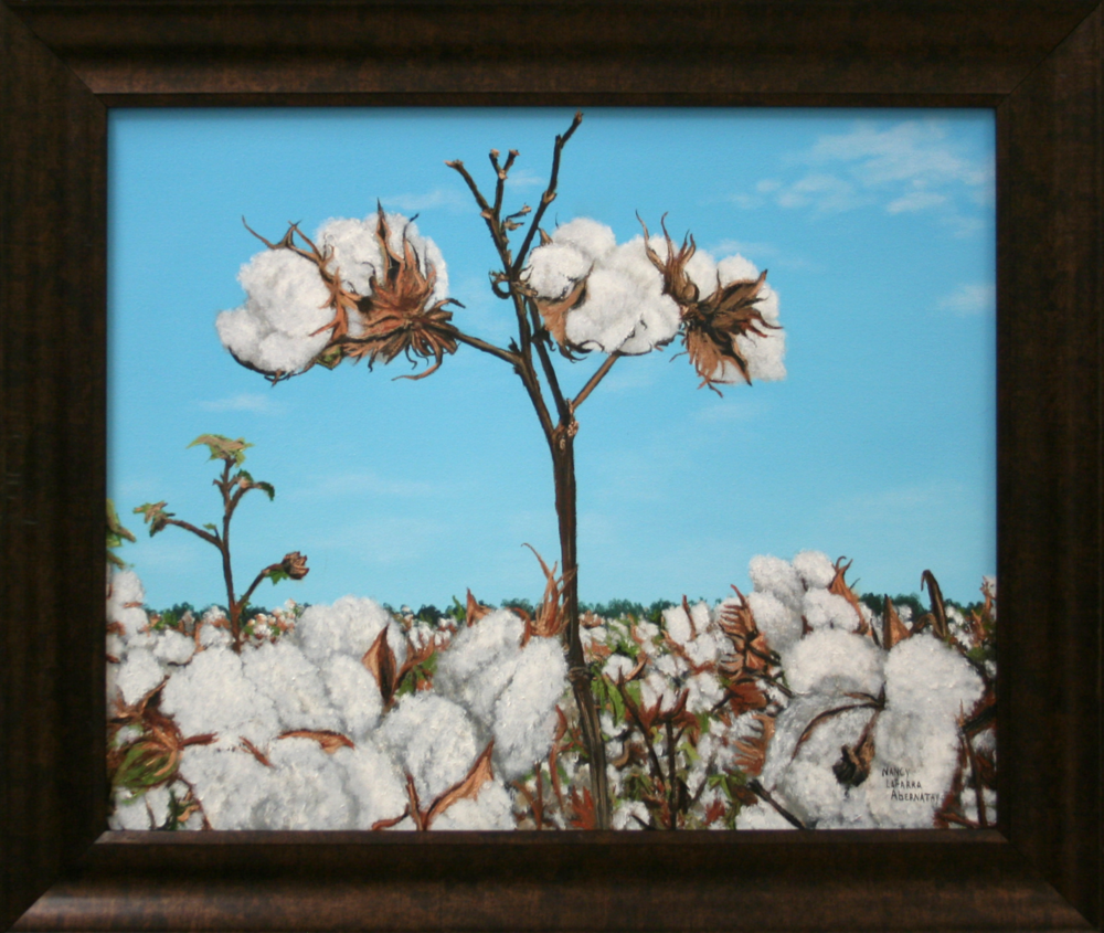 Nancy Abernathy   Cotton Pickin' Time   Oil Paint